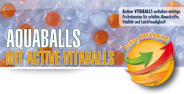 AQUABALLS mit Active VITABALLS - Enthalten wichtige Fischvitamine!