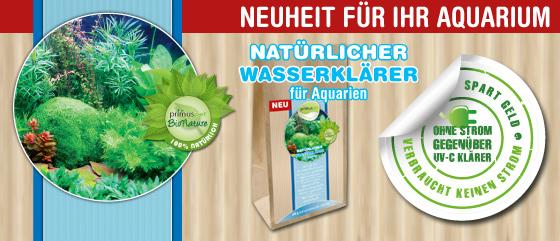 NEUHEIT: primuspet Natürlicher Wasserklärer für Ihr Aquarium - Ohne Strom