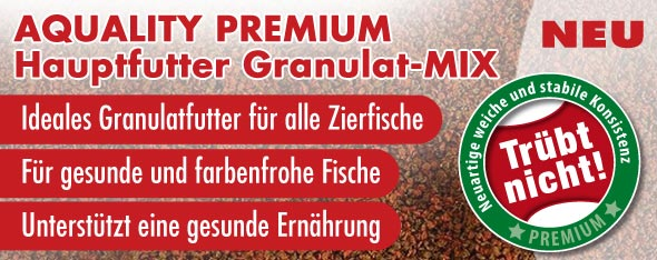 NEU: AQUALITY PREMIUM Hauptfutter Granulat-MIX
