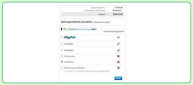 Sie möchten mit PayPal oder per Überweisung bezahlen!