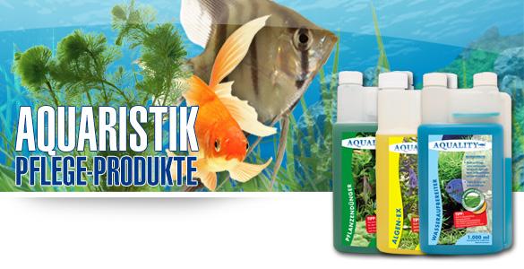 AQUALITY Aquaristik - Pflegeprodukte für Ihr Aquarium - Wasseraufbereiter, Pflanzenpflege, Bodengrund, Fischfutter