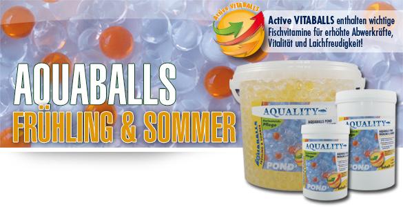 AQUABALLS POND für Ihren Gartenteich - Einfach und zeitsparend dosieren