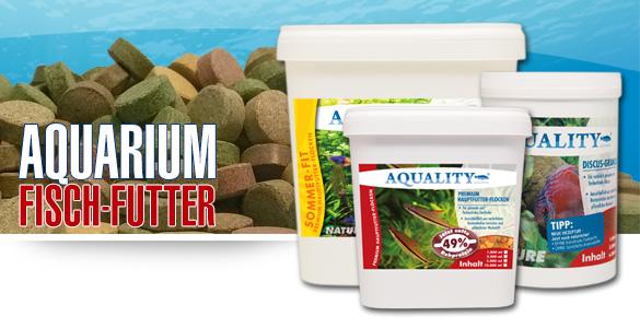 AQUALITY Aquaristik - Aquarium Fischfutter für Diskus, Discus, Goldfische, Garnelen, Zierfische