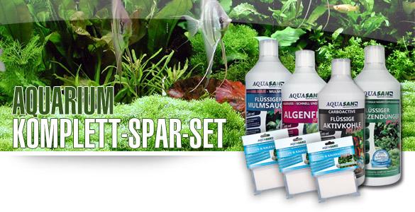 AQUASAN Aquarium Komplett-Spar-Set