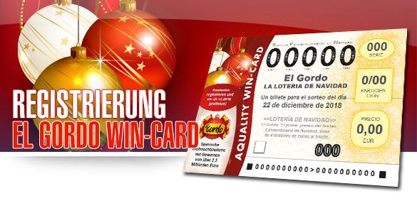 AQUALITY El Gordo WIN-CARD
