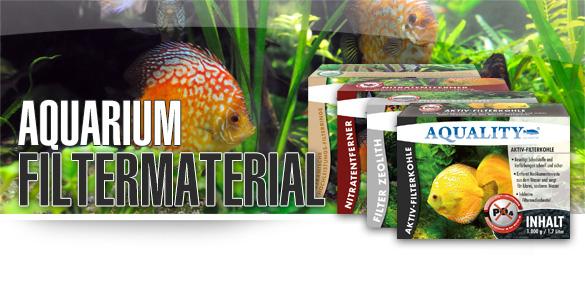 AQUALITY Aquarium Filtermaterial, Filtermedium, Aktivkohle, Zeolith, Keramik, Nitratentferner