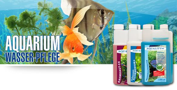 Wasserpflege für Ihr Aquarium - Aquality - Mulmsauger, Wasseraufbereiter, Filtermedium