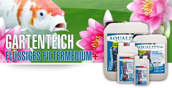 AQUALITY Flüssiges Filtermedium+ für Ihren Gartenteich