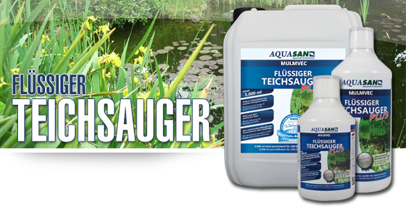 AQUASAN Mulmvec Flüssiger Teichsauger für Ihren Gartenteich