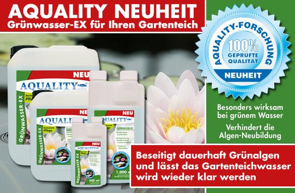AQUALITY Grünwasser-EX POND beseitigt dauerhaft Grünalgen!