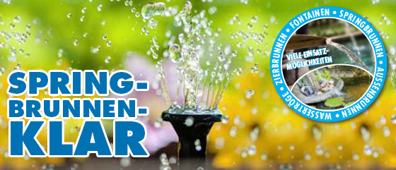 NEU im Shop: AQUALITY Springbrunnen-Klar jetzt schon ab 8.00 Euro - 500 ml (1 Liter / 16,00 Euro)