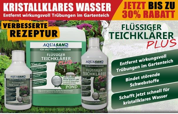 Teichkl rer aquality shop f r aquaristik und for Gartenteich shops