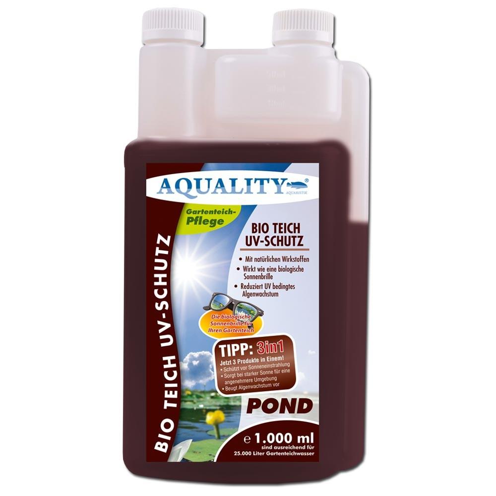 Aquality bio teich uv schutz ml gartenteich algenmittel for Teich schutz