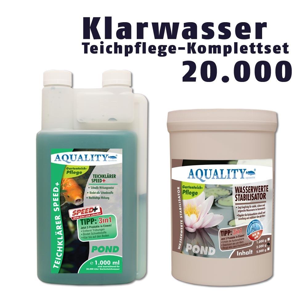Aquality klarwasser teichpflege sparset gartenteich for Gartenteichpflege algen