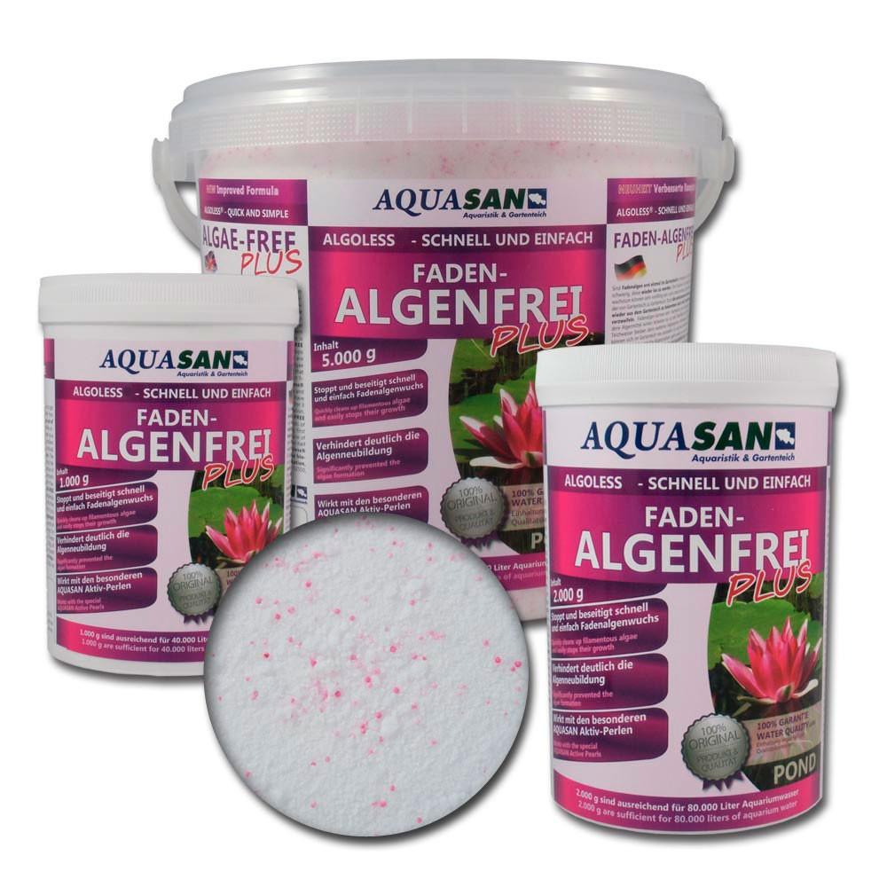 Aquasan pond algoless faden algenfrei plus g for Gartenteich algenfrei